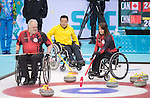 Jim Armstrong and Ina Forrest, Sochi 2014 - Wheelchair Curling // Curling en fauteuil roulant.<br />