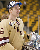 Patrick Wey (BC - 6) - The Boston College Eagles defeated the Boston University Terriers 3-2 (OT) to win the 2012 Beanpot championship on Monday, February 13, 2012, at TD Garden in Boston, Massachusetts.