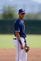 San Diego Padres third baseman Tucupita Marcano (67) during an Instructional League game against the Chicago White Sox on September 26, 2017 at Camelback Ranch in Glendale, Arizona. (Zachary Lucy/Four Seam Images)