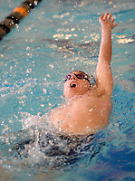 Fayetteville's Jordan Sheely competes Saturday, Feb. 13, 2021, in the 200-yard IM during the Class 6A-West Conference Swim Championships at the Jones Center in Springdale. Visit nwaonline.com/210214Daily/ for today's photo gallery. <br /> (NWA Democrat-Gazette/Andy Shupe)