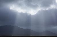 Sonnenstrahlen durchbrechen den Wolkenhimmel, Sonne, Wolken, Himmel, Sonnenstrahl, shafts of sunlight, sunbeam, ray of sunlight, clouded sky, sky, Island, Iceland
