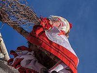 Hexen beim Umzug Nassereither Schellerlauf, Fasnacht in Nassereith, Bezirk Imst, Tirol, Österreich, Europa, immaterielles UNESCO Weltkulturerbe<br /> witches at parade of  Nassereither Schellerlauf-Fasnacht, Nassereith, Tyrol, Austria Europe, Intangible World Heritage