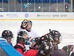 Dominic Larocque, Sochi 2014 - Para Ice Hockey // Para-hockey sur glace.<br /> Canada's Para Ice Hockey team practices before the games begin // L'équipe canadienne de para hockey sur glace s'entraîne avant le début des matchs. 02/03/2014.