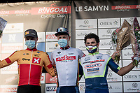 Tim Merlier (BEL/Alpecin-Fenix) wins the 53rd Le Samyn 2021 and leads the Bingoal Cycling Cup<br /> 2nd finisher is Rasmus Tiller (NOR/Uno-X Pro) & Andrea Pasqualon (ITA/Intermarché - Wanty - Gobert) is 3rd<br /> <br /> ME (1.1)<br /> 1 day race from Quaregnon to Dour (BEL/205km)<br /> <br /> ©kramon