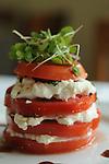 The Burrata con Comodoro - sliced tomato with balsamic vinaigrette layered with burrito, basil and mint at Sud Italia Ristorante at 2347 University Wednesday May 20, 2015.(Dave Rossman photo)