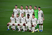 Football: Europa League - quarter final 2nd leg AS Roma vs Ajax, Olympic Stadium. Rome, Italy, March 15, 2021.<br /> Roma's players pose for the pre match photograph prior to the Europa League football match between Roma at Rome's Olympic stadium, Rome, on April 15, 2021.  <br /> UPDATE IMAGES PRESS/Isabella Bonotto