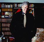 Hugo Pratt nella sua casa di Losanna - 1992; Hugo Pratt in his house in Losanna- 1992