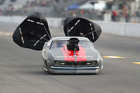 Oct 2, 2020; Madison, Illinois, USA; NHRA pro mod driver Brandon Pesz during qualifying for the Midwest Nationals at World Wide Technology Raceway. Mandatory Credit: Mark J. Rebilas-USA TODAY Sports