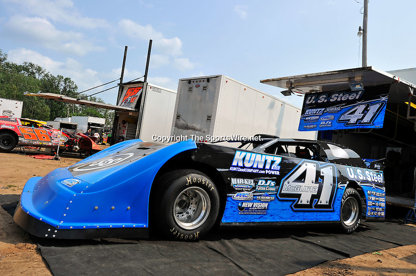 Aug 5, 2010; 3:11:22 PM; New Richmond, WI., USA; The 23rd Annual USA Nationals presented by U.S. Steel Corporation running a 50,000-to-win World of Outlaws Dirt Late Model Series sanctioned event at Cedar Lake Speedway.  Mandatory Credit: (thesportswire.net)
