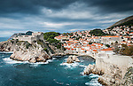 A small bay outside the city walls in Dubrovnik, Croatia