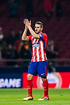 Jorge Resurreccion Merodio, Koke, of Atletico de Madrid celebrates after the UEFA Europa League 2017-18 Round of 16 (1st leg) match between Atletico de Madrid and FC Lokomotiv Moscow at Wanda Metropolitano  on March 08 2018 in Madrid, Spain. Photo by Diego Souto / Power Sport Images