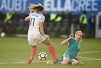 Harrison, N.J. - Sunday March 04, 2018: Dugan, Lena Goeßling during a 2018 SheBelieves Cup match between the women's national teams of the Germany (GER) and England (ENG) at Red Bull Arena.