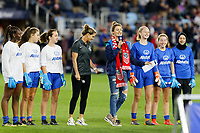 Saint Paul, MN - Tuesday September 03, 2019 : Allstate, DA players, Brandi Chastain during a 2019 Victory Tour match between Portugal and the United States at Allianz Field, on September 03, 2019 in Saint Paul, Minnesota.