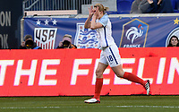 Harrison, N.J. - Sunday March 04, 2018: White celebrating her goal during a 2018 SheBelieves Cup match between the women's national teams of the Germany (GER) and England (ENG) at Red Bull Arena.
