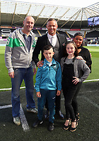 Lee Trundle with academy youngsters during the Premier League match between Swansea City and Watford at The Liberty Stadium, Swansea, Wales, UK. Saturday 23 September 2017