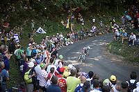 Alexis Vuillermoz (FRA/Ag2r-La Mondiale) descending the  Grand Colombier<br /> <br /> stage 15: Bourg-en-Bresse to Culoz (160km)<br /> 103rd Tour de France 2016