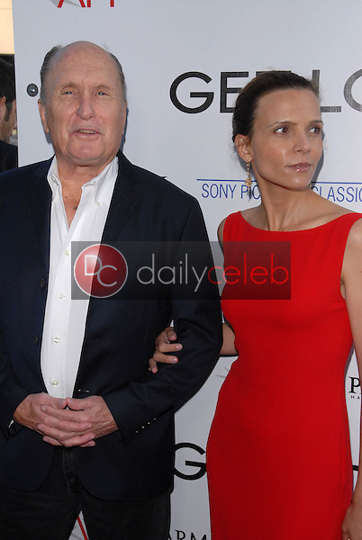 """Robert Duvall and wife<br /> at the premiere of """"Get Low,"""" Academy of Motion Picture Arts and Sciences, Los Angeles, CA. 07-27-10<br /> David Edwards/DailyCeleb.com 818-249-4998"""