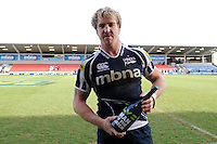 20130310 Copyright onEdition 2013©.Free for editorial use image, please credit: onEdition..Man of the Match Andy Powell of Sale Sharks celebrants after winning the LV= Cup semi final match between Sale Sharks and Saracens at the Salford City Stadium on Sunday 10th March 2013 (Photo by Rob Munro)..For press contacts contact: Sam Feasey at brandRapport on M: +44 (0)7717 757114 E: SFeasey@brand-rapport.com..If you require a higher resolution image or you have any other onEdition photographic enquiries, please contact onEdition on 0845 900 2 900 or email info@onEdition.com.This image is copyright onEdition 2013©..This image has been supplied by onEdition and must be credited onEdition. The author is asserting his full Moral rights in relation to the publication of this image. Rights for onward transmission of any image or file is not granted or implied. Changing or deleting Copyright information is illegal as specified in the Copyright, Design and Patents Act 1988. If you are in any way unsure of your right to publish this image please contact onEdition on 0845 900 2 900 or email info@onEdition.com