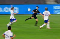 LOS ANGELES, CA - SEPTEMBER 02: Diego Rossi #9 of LAFC moves to the ball during a game between San Jose Earthquakes and Los Angeles FC at Banc of California stadium on September 02, 2020 in Los Angeles, California.