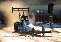 Oct 11, 2019; Concord, NC, USA; NHRA top fuel driver Mike Salinas during qualifying for the Carolina Nationals at zMax Dragway. Mandatory Credit: Mark J. Rebilas-USA TODAY Sports