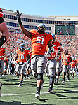 Oklahoma State Cowboys offensive linesman Michael Bowie (61) in action during the game between the Baylor Bears and the Oklahoma State Cowboys at the Boone Pickens Stadium in Stillwater, OK. Oklahoma State defeats Baylor 59 to 24.