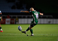 9th September 2020; Twickenham Stoop, London, England; Gallagher Premiership Rugby, London Irish versus Harlequins; Jacob Atkins of London Irish with a conversion