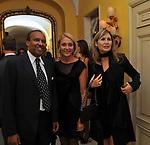 IDRIS E ANA MARIA AL SENOUSSI CON MARIAPIA SFORZA RUSPOLI<br /> PARTY DI PAOLO PAZZAGLIA<br /> PALAZZO FERRAJOLI ROMA 2010