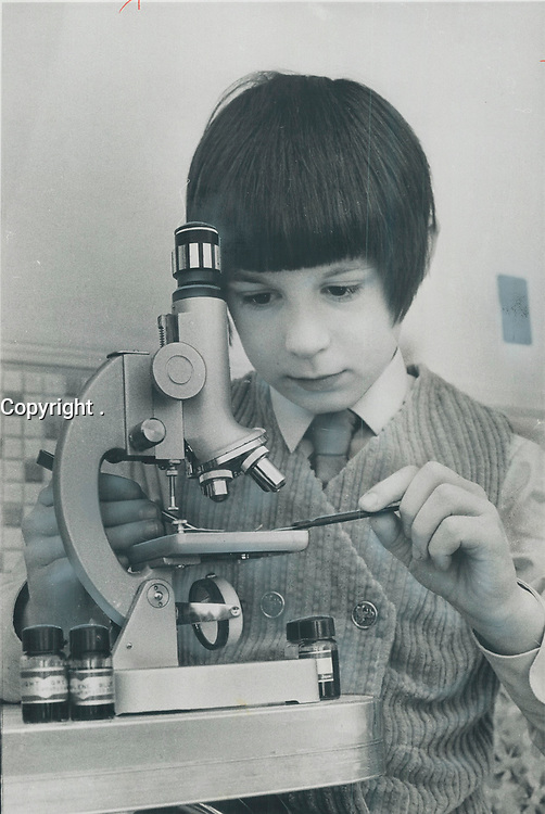 1972 FILE PHOTO - ARCHIVES -<br /> <br /> Lee Wallen; an 11-year-old boy with an I.Q. of 136; attends classes for gifted children on Saturday mornings. The program might be dropped.<br /> <br /> PHOTO : <br /> Bull, Ron<br /> <br /> PHOTO : Ron BULL - Toronto Star Archives - AQP