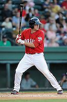 Designated hitter Danny Bethea (26) of the Greenville Drive bats in a game against the Lexington Legends on Sunday, August 31, 2014, at Fluor Field at the West End in Greenville, South Carolina. Greenville won, 3-2. (Tom Priddy/Four Seam Images)