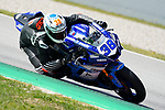 WorldSBK supported test SSP600  day 2 at Circuit de Barcelona-Catalunya, picture show H. Soomer riding Yamaha YZF R6 from KAllio Racing