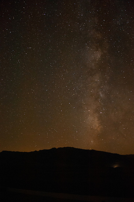 Milky Way over Cottonwood Mountains, Death Valley