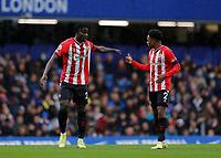 2nd October 2021; Stamford Bridge, Chelsea, London, England; Premier League football Chelsea versus Southampton; Mohammed Salisu of Southampton talking to Kyle Walker-Peters of Southampton