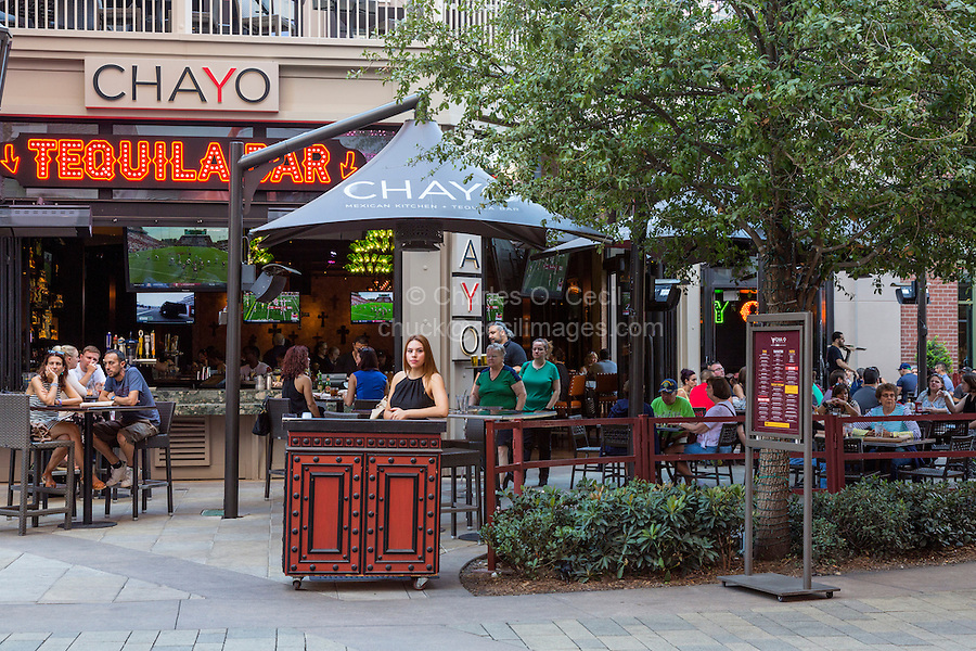 Las Vegas, Nevada.  Chayo Mexican Kitchen and Tequila bar, Outside Tables, The Linq Promenade.