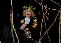 """Wassail Queen of Stamford Robina Hill.<br /> <br /> """"Old apple tree, we wassail thee,<br /> here's hope that you wilt bear <br /> for the Gods doth know where <br /> we shall be come apples another year.<br /> <br /> For to bloom well and to bear well, <br /> so merry let us be. <br /> Let every man take off his hat<br /> & shout out to the old apple tree!"""""""