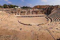 Israel, Galilee, Kiryat Tiv'on, Bet She'an national park, ancient Scitopoli Theatre