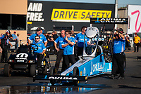 Jul 27, 2019; Sonoma, CA, USA; Crew members for NHRA top fuel driver Leah Pritchett during qualifying for the Sonoma Nationals at Sonoma Raceway. Mandatory Credit: Mark J. Rebilas-USA TODAY Sports
