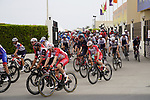 The start of Stage 5 of the 2021 UAE Tour running 170km from Fujairah to Jebel Jais, Fujairah, UAE. 25th February 2021.  <br /> Picture: Eoin Clarke   Cyclefile<br /> <br /> All photos usage must carry mandatory copyright credit (© Cyclefile   Eoin Clarke)