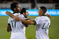 SAN JOSE, CA - SEPTEMBER 19: Jeremy Ebobisse #17, Diego Valeri #8 and Marvin Loria #44 of the Portland Timbers during a game between Portland Timbers and San Jose Earthquakes at Earthquakes Stadium on September 19, 2020 in San Jose, California.