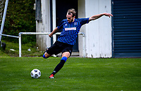 Taylor Schrijvers during the Central League football match between Miramar Rangers and Lower Hutt AFC at David Farrington Park in Wellington, New Zealand on Saturday, 10 April 2021. Photo: Dave Lintott / lintottphoto.co.nz