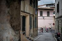 Will Clarke (AUS/Trek-Segafredo) in the breakaway group<br /> <br /> Stage 2: Bologna to Fucecchio (200km)<br /> 102nd Giro d'Italia 2019<br /> <br /> ©kramon
