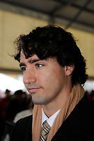 Montreal (QC)CANADA - Nov 11, 2008 -<br /> <br /> Elected Federal  MP Justin Trudeau attend the veteran day celebration in Montreal. He is the son of late Canadian Prime Minister Pierre E. Trudeau.