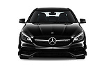 Car photography straight front view of a 2019 Mercedes Benz CLA-Coupe 45-AMG 4 Door Sedan Front View