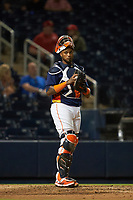 Houston Astros catcher Martín Maldonado (15) during a Major League Spring Training game against the Washington Nationals on March 19, 2021 at The Ballpark of the Palm Beaches in Palm Beach, Florida.  (Mike Janes/Four Seam Images)