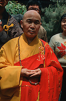 China, Peking, buddhistischer Mönch im Fa Yuan Si-Tempel