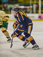 29 December 2013:  Canisius College Golden Griffins forward Braeden Rigney, a Junior from Singhampton, Ontario, in first period action against the University of Vermont Catamounts at Gutterson Fieldhouse in Burlington, Vermont. The Catamounts defeated the Golden Griffins 6-2 in the 2013 Sheraton/TD Bank Catamount Cup NCAA Hockey Tournament. Mandatory Credit: Ed Wolfstein Photo *** RAW (NEF) Image File Available ***