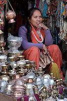 Bodhnath, Nepal.  Souvenir and Handicraft Vendor.
