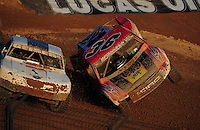 Dec. 10, 2011; Chandler, AZ, USA;  LOORRS pro 2 unlimited driver Jeff Geiser (44) and Rodrigo Ampudia (36) during round 15 at Firebird International Raceway. Mandatory Credit: Mark J. Rebilas-