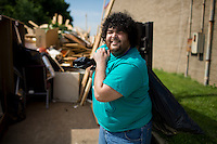 """Jonathan Miela poses for a portrait during """"Circle the City with Service,"""" the Kiwanis Circle K International's 2015 Large Scale Service Project, on Wednesday, June 24, 2015, at the Friendship Westside Center for Excellence in Indianapolis. (Photo by James Brosher)"""