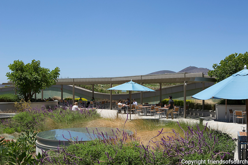 """Palomar Pomerado Health, Escondido, CA, 2005-2012. The primary goal of creating a """"healing environment"""" embraced two equally important components--a humane place of recuperation for patients and a model of sustainability in the larger environmental context. Yu-Ju-Liu, landscape architect. Photo by Marshall Williams Photography."""