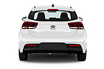 Straight rear view of 2021 KIA Rio More 5 Door Hatchback Rear View  stock images